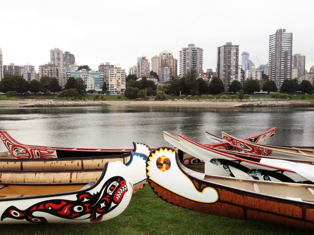 See The Media Links Below To Watch Beautiful Cedar Dugout Canoes Paddle Into False Creek From Vanier Park